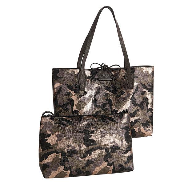 Guess Handtasche Bobbi Camo Grey