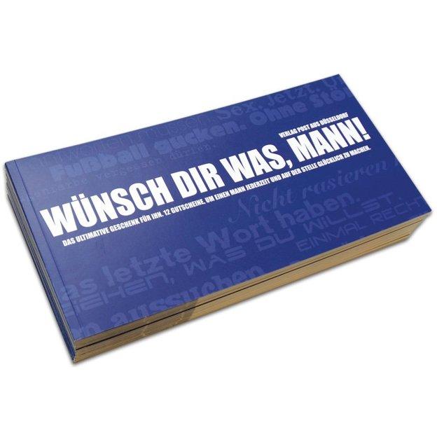 Gutscheinbuch für Männer - Wünsch dir was, Mann