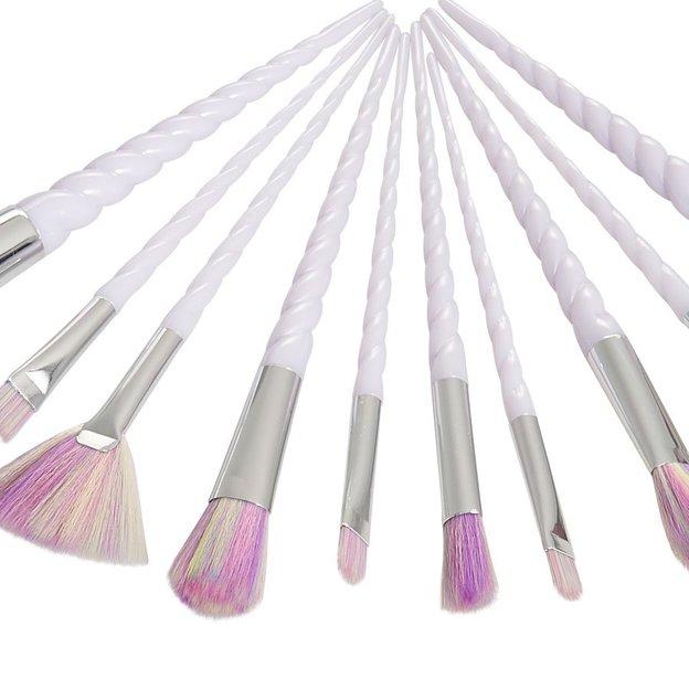 Set de pinceaux de maquillage Licorne