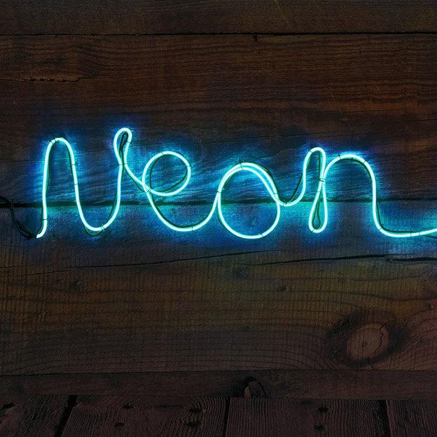 Neon Leuchtschrift DIY Blau