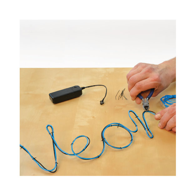Lampe néon DIY à monter soi-même, bleue