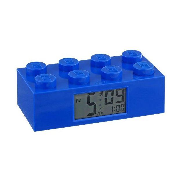 Lego Baustein Wecker blau