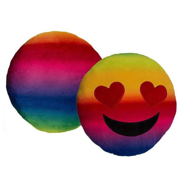 Emoji Plüschkissen Heart Rainbow 30 cm