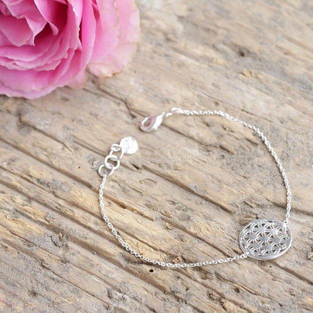 """Bracelet plaqué argent """"Fleur de vie"""" de Tara Style"""