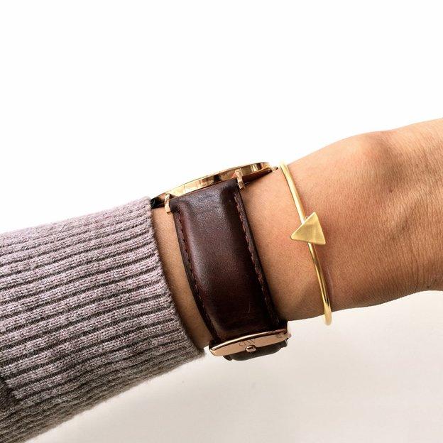 TARA STYLE Armspange Triangle Gold verstellbar