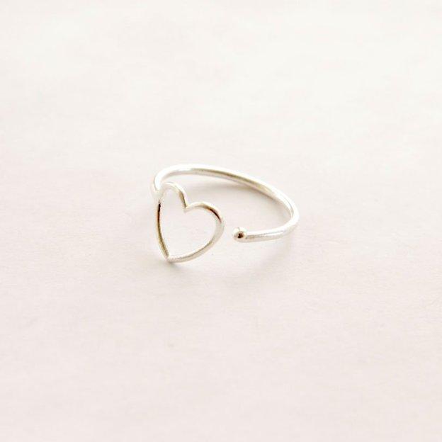 TARA STYLE Ring Love verstellbar Silber