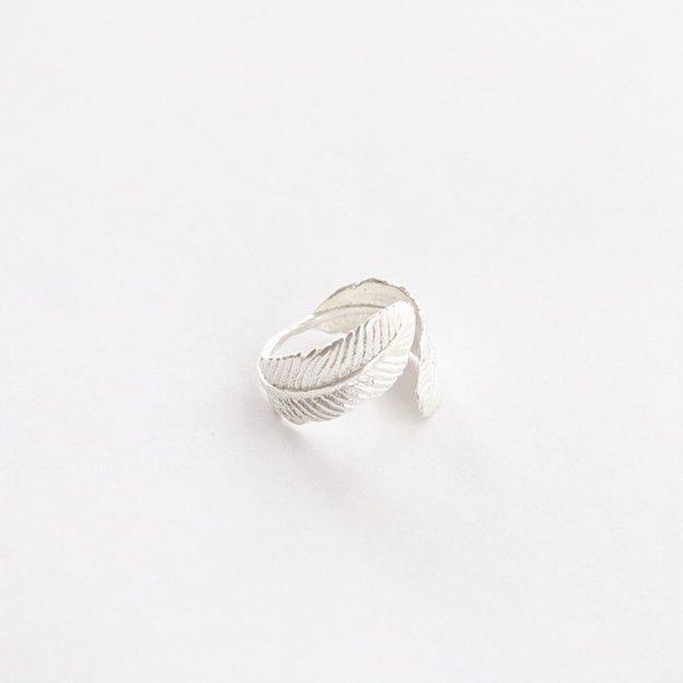 TARA STYLE Ring Feather verstellbar Silber
