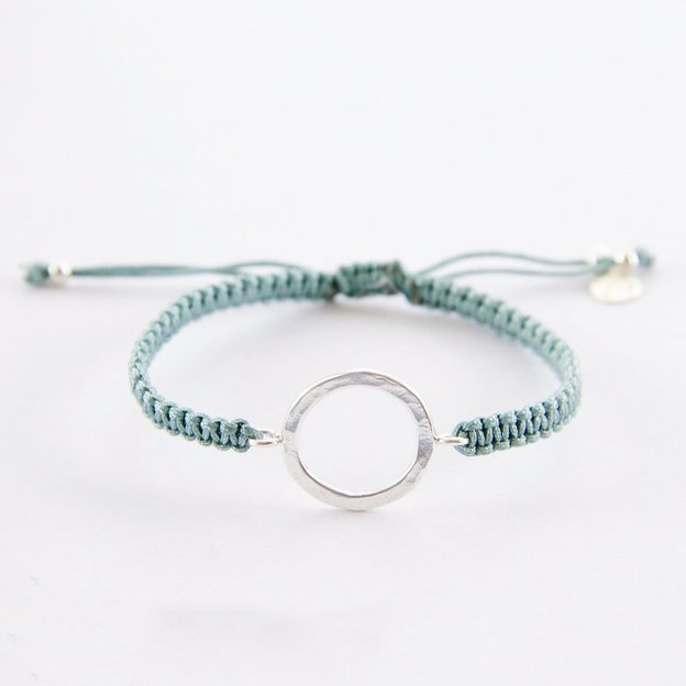 TARA STYLE Armband Karma Bracelet Eternity Silber Petrol