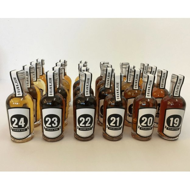 Rum Kollektion mit 24 Premium Rum, 24 x 5cl