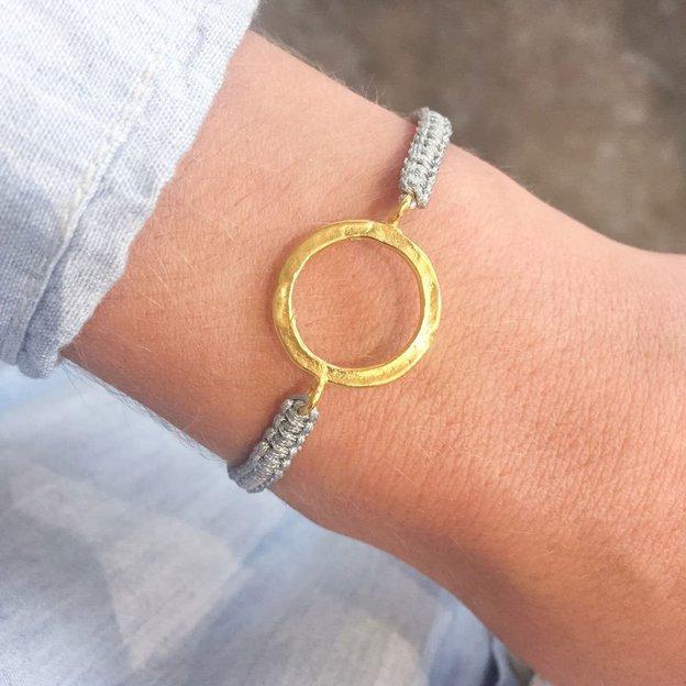 TARA STYLE Armband Karma Bracelet Eternity Gold Grey