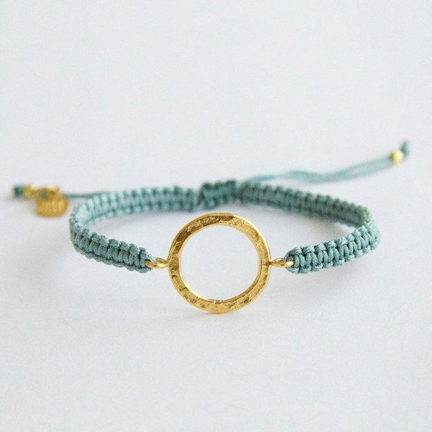 TARA STYLE Armband Karma Bracelet Eternity Gold Petrol