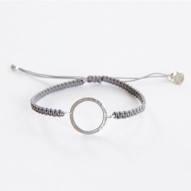 TARA STYLE Armband Karma Bracelet Eternity Silber Grey
