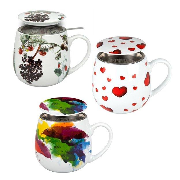 Tee Tasse mit Deckel & Sieb Tea 4 you