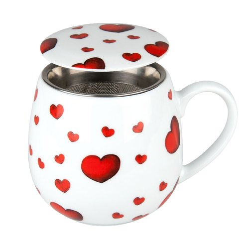 Image of Tee Tasse mit Deckel & Sieb Little Hearts