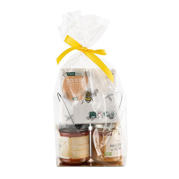 Geschenkset Honig in Henkelgläsern mit Servietten
