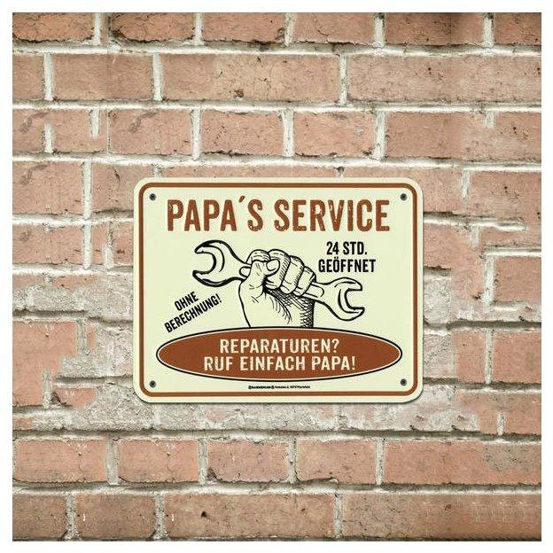 Papa's Service Blechschild
