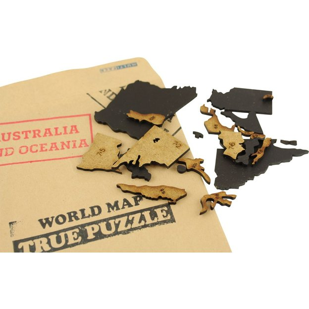Do it yourself Puzzle-Weltkarte aus Holz