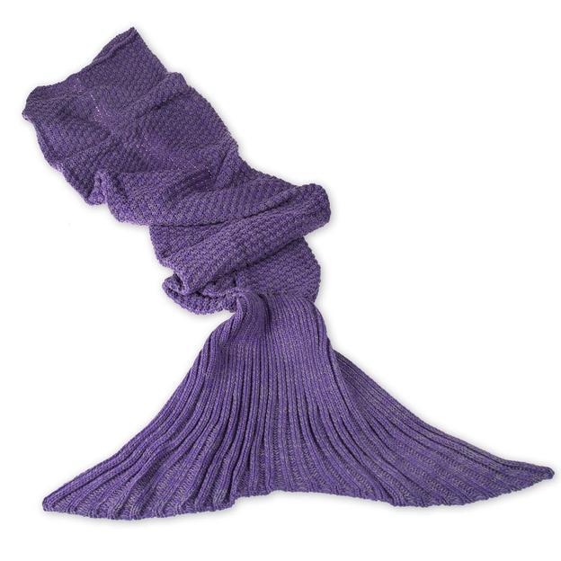 Kuscheldecke Meerjungfrau lila