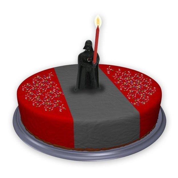 Star Wars Kuchenkerzenhalter Kerze Darth Vader