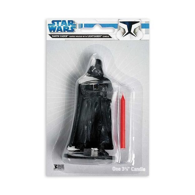 Star Wars Bougie Dark Vador pour gâteau d'anniversaire