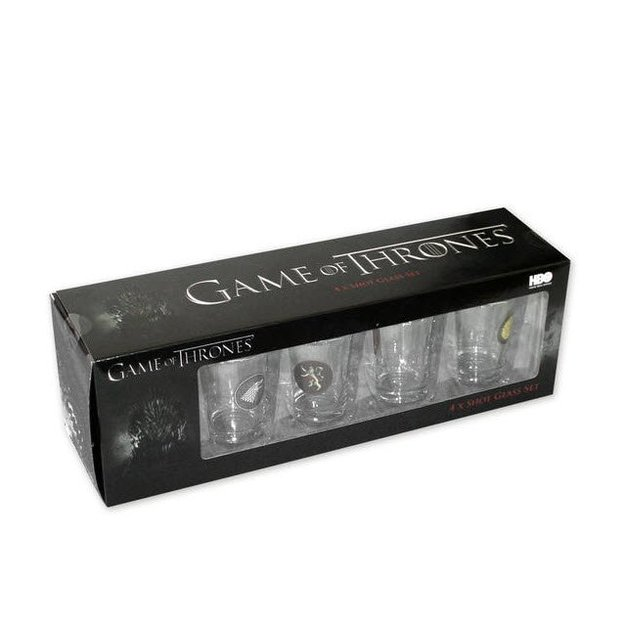 4 verres à shot Game of Thrones avec blasons