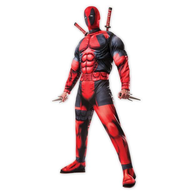 Deadpool Deluxe Muskel-Jumpsuit mit Maske