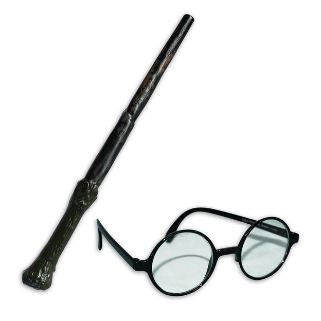 Harry Potter Set Zauberstab & Brille