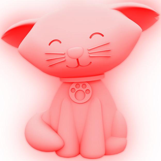 Katzen Stimmungsleuchte mit Farbwechsel
