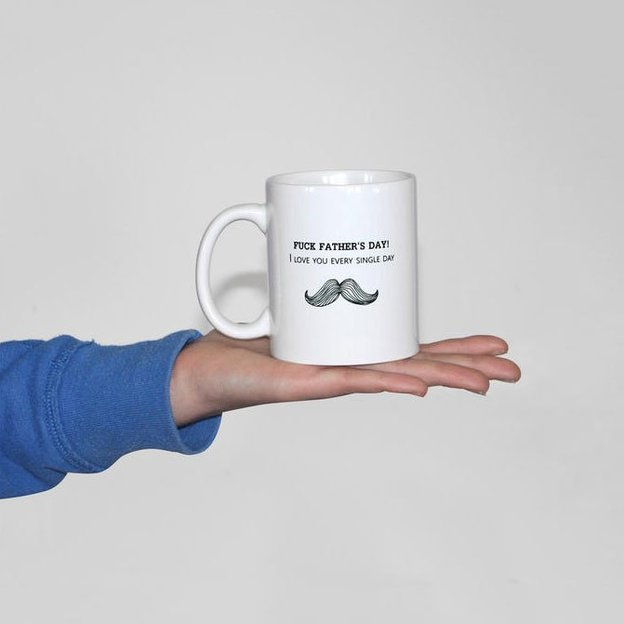 Tasse Moustache – Fuck Father's Day