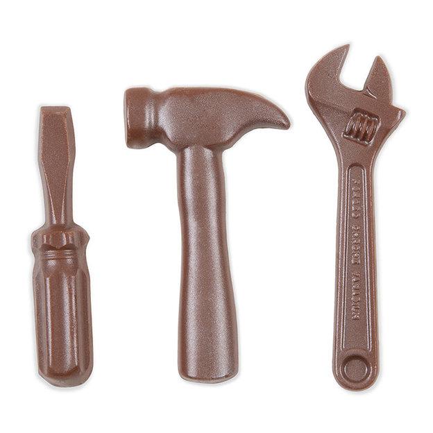 Werkzeug Set aus Schokolade klein
