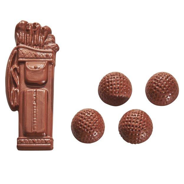 Golfbag mit 4 Golfbällen aus Schokolade 210g