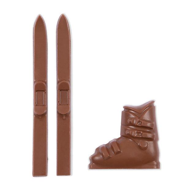 Skis et chaussure de ski en chocolat 100 g
