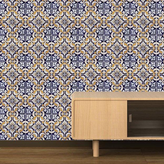autocollants muraux carrelage espagnol. Black Bedroom Furniture Sets. Home Design Ideas