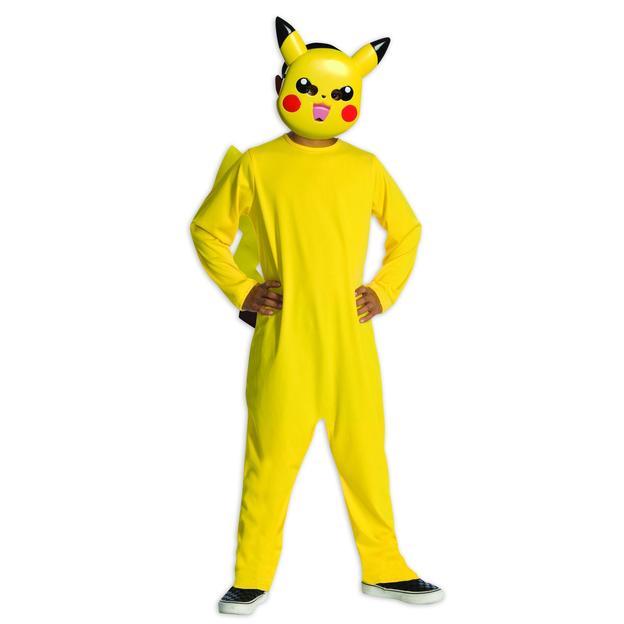 Pokémon Kostüm Pikachu für Kids mit Maske Grösse M