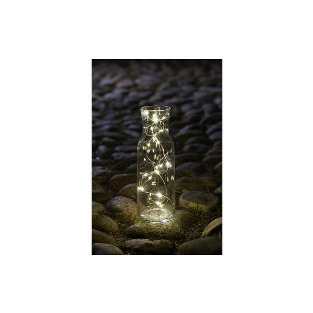 Sirius LED Lichterkette Knirke, 40 LED Kabel transparent, silber