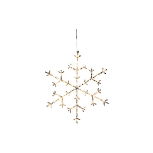 Eisstern Acryl 45cm, 50 LED Acryl, IP20, hängend