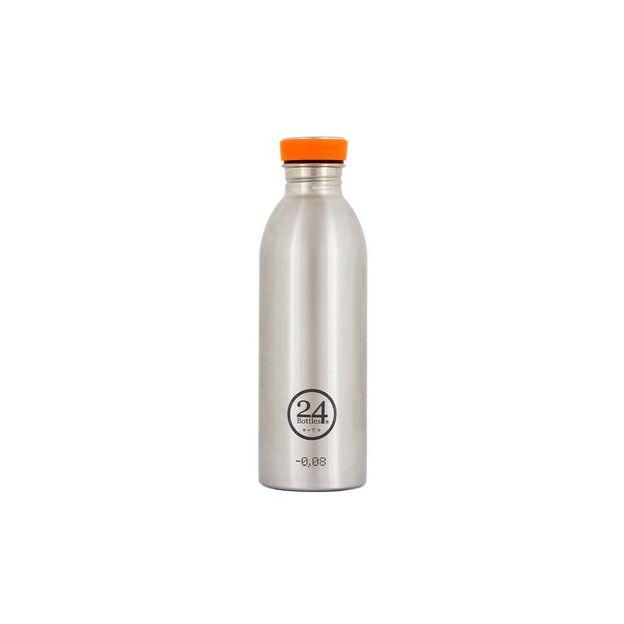 24Bottles Trinkflasche Urban Steel Volumen 500ml, Farbe Steel