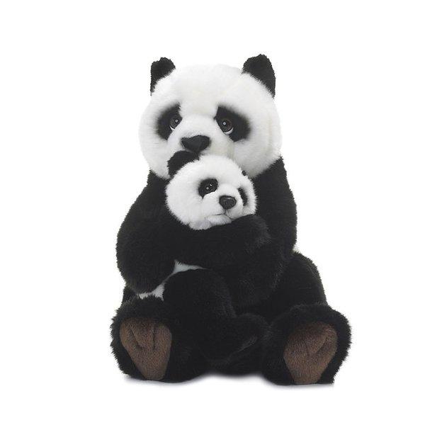 WWF Panda mit Baby 28 cm