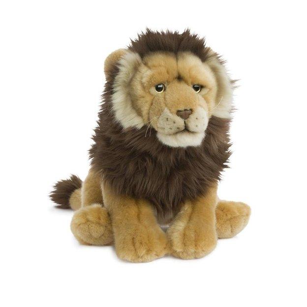Peluche WWF lion assis 30 cm