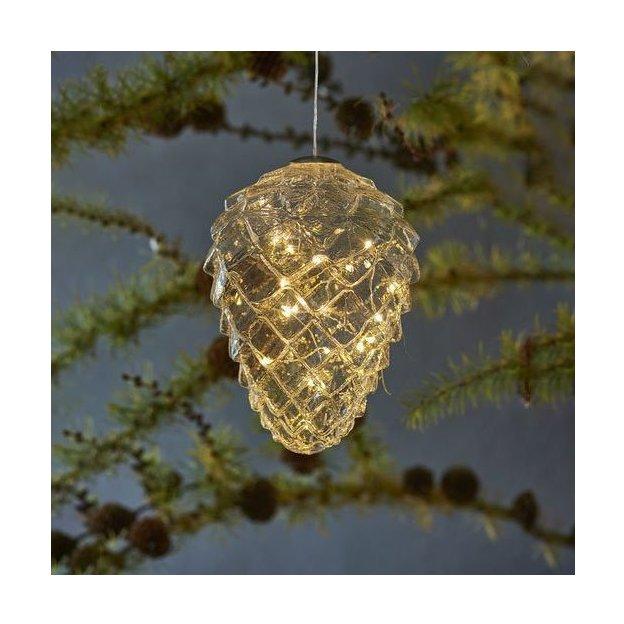 Sirius LED Kieferzapfen gross transparent indoor
