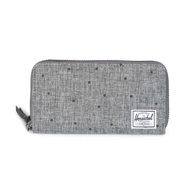 Herschel Portemonnaie Thomas RFID Grau mit Punkten