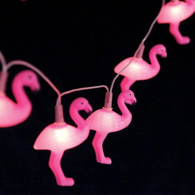 Lichterkette Flamingo