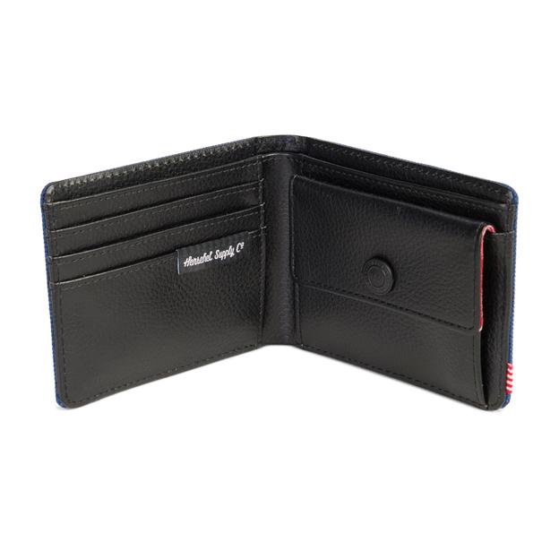 Herschel Portemonnaie Hank + Coin RFID Eclipse Crosshatch