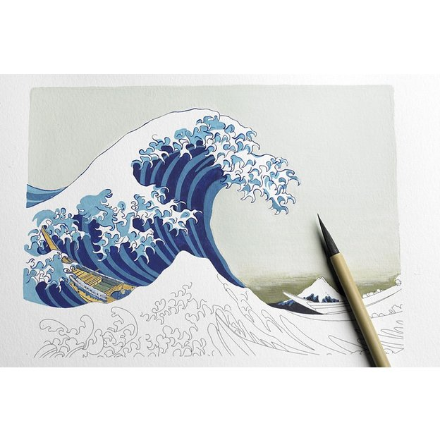 Malbuch im Postkarten-Format JAPANESE DESIGN