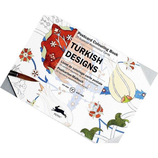 Livre de coloriage adulte carte postale DESSINS TURCS