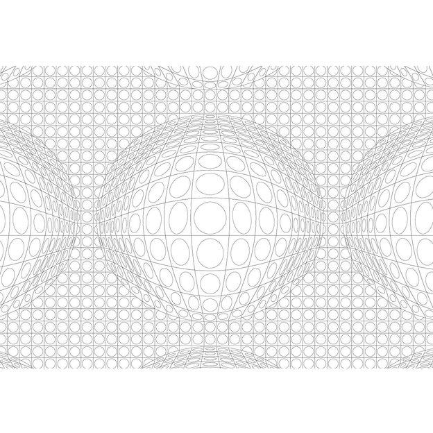 Malbuch im Postkarten-Format OP ART