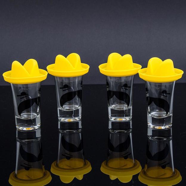 Schnapsglas - Sombrero Tequila Shots im 4er Set