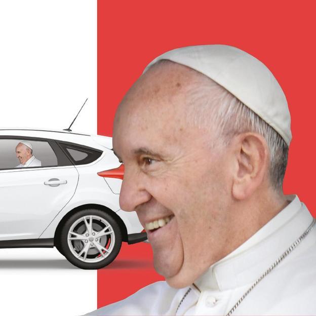 Fenstersticker - Papst
