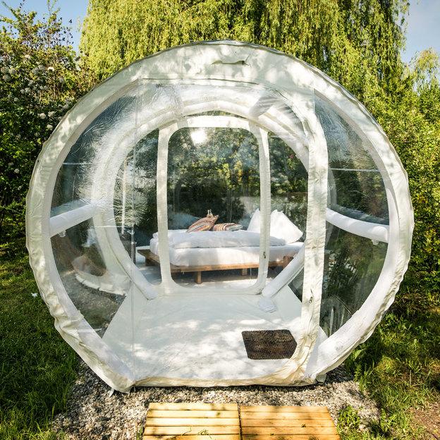 Nuit insolite dans une bulle la belle toile - Bulle pour dormir a la belle etoile ...