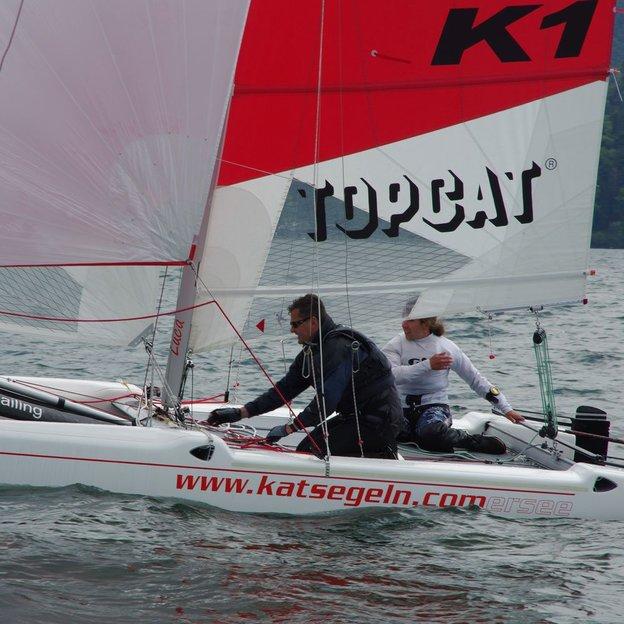 Katamaran segeln  Segeln am Comersee
